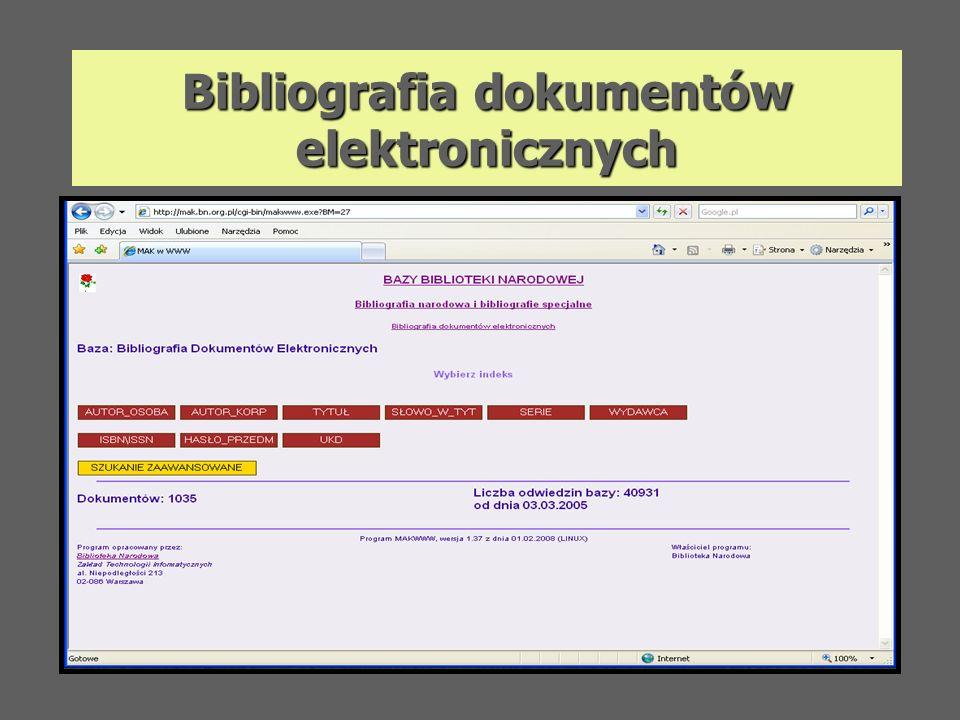 Bibliografia dokumentów elektronicznych