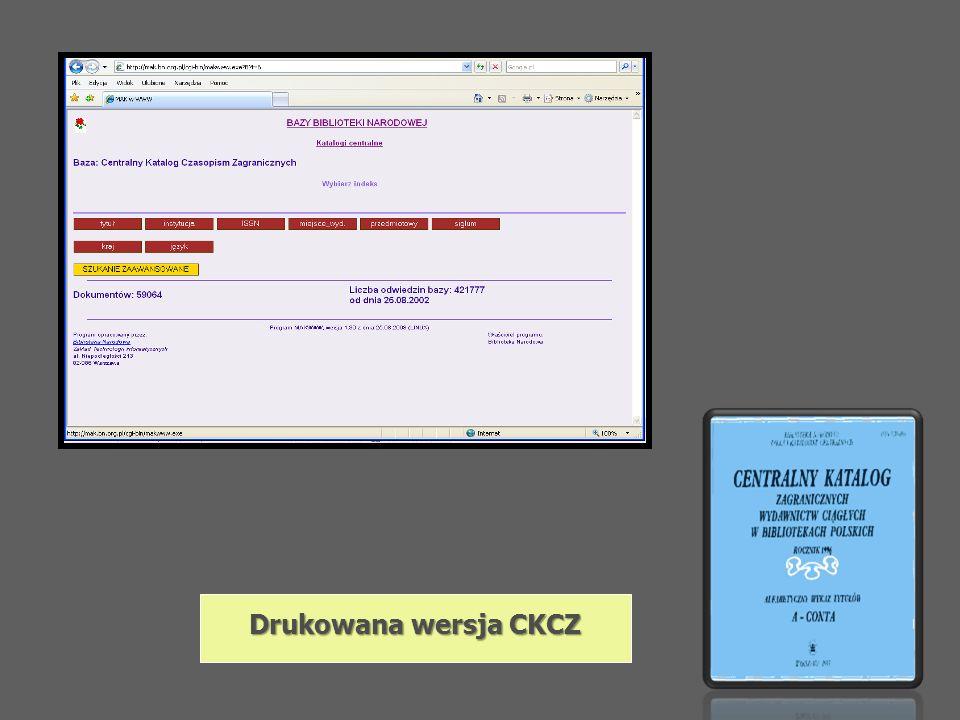 Drukowana wersja CKCZ