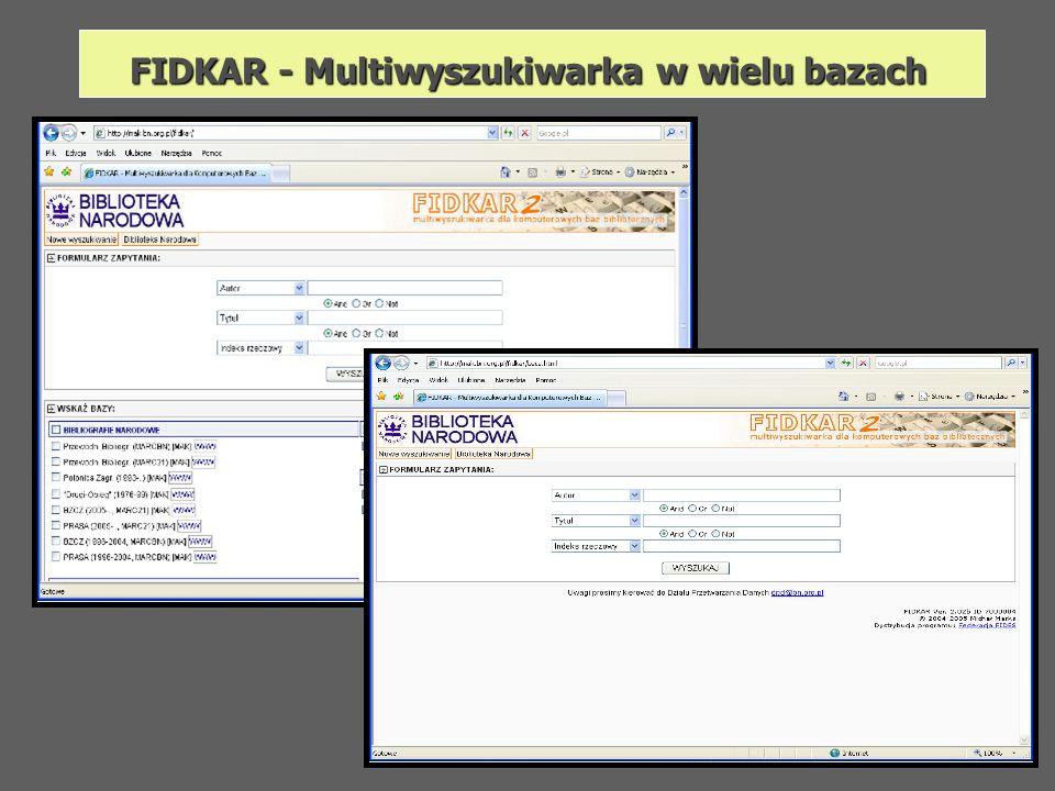 FIDKAR - Multiwyszukiwarka w wielu bazach
