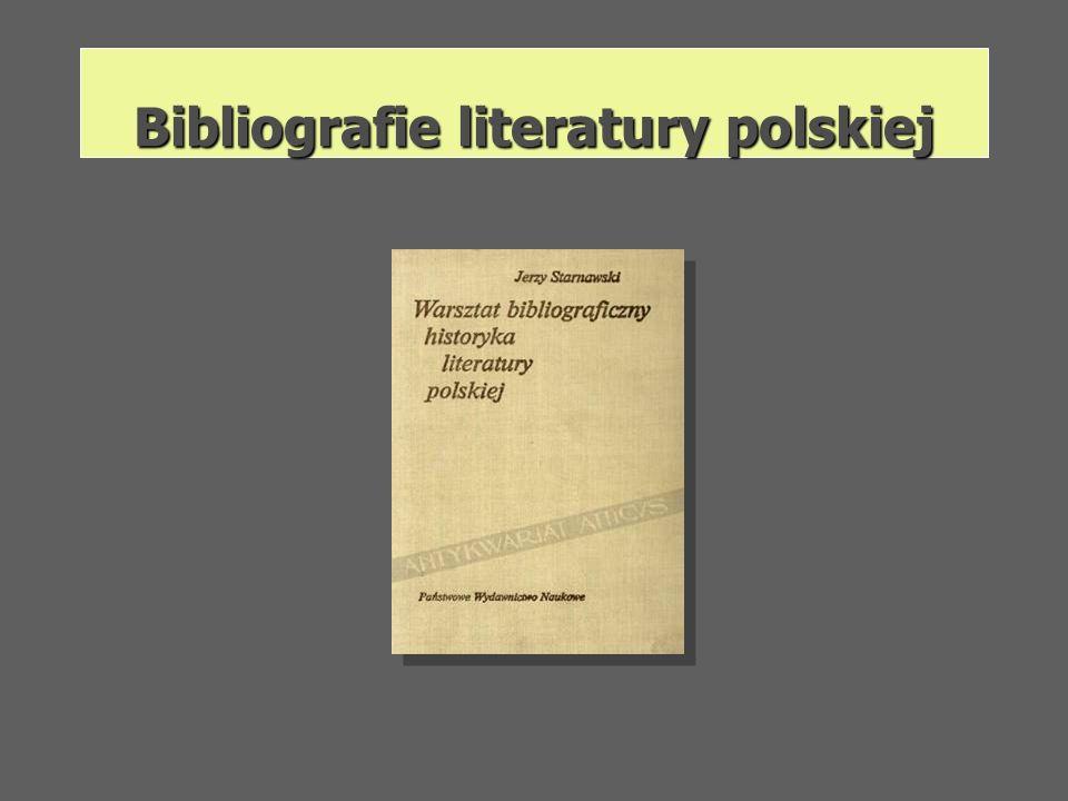 Bibliografie literatury polskiej