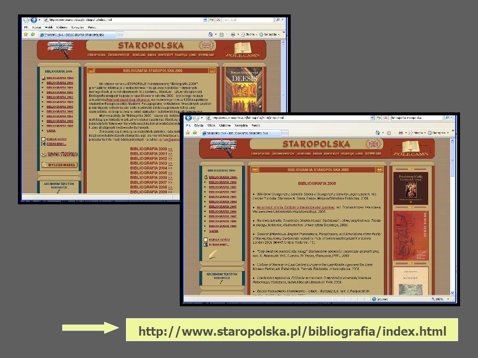 http://www.staropolska.pl/bibliografia/index.html