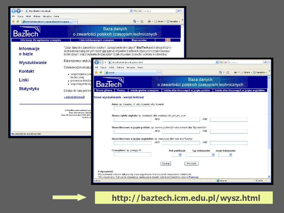 http://baztech.icm.edu.pl/wysz.html