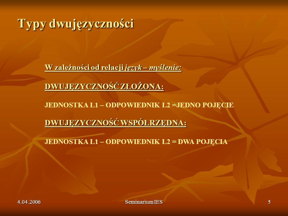 4.04.2006Seminarium IES26 Neologizmy formy o wspólnym znaczeniu (POLSKI PRZEDROSTEK LUB PRZYROSTEK I RDZEŃ) Od parę lat wracam więcej do Polski, to wyświeżylam trochę moje pierwotne znajomości.