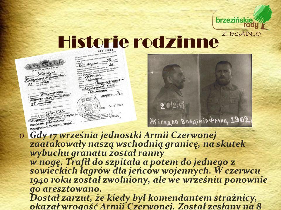 oGdy 17 września jednostki Armii Czerwonej zaatakowały naszą wschodnią granicę, na skutek wybuchu granatu został ranny w nogę. Trafił do szpitala a po