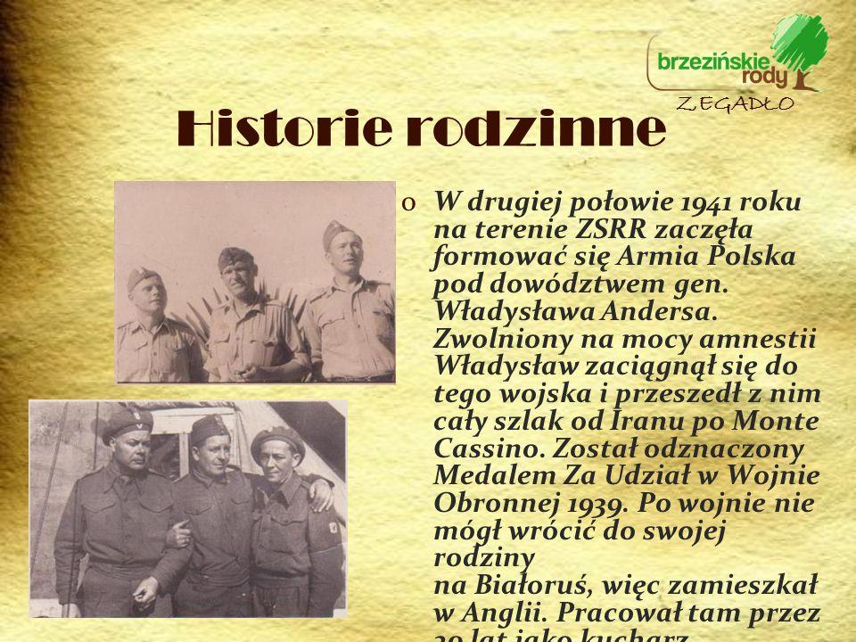 oW drugiej połowie 1941 roku na terenie ZSRR zaczęła formować się Armia Polska pod dowództwem gen. Władysława Andersa. Zwolniony na mocy amnestii Wład