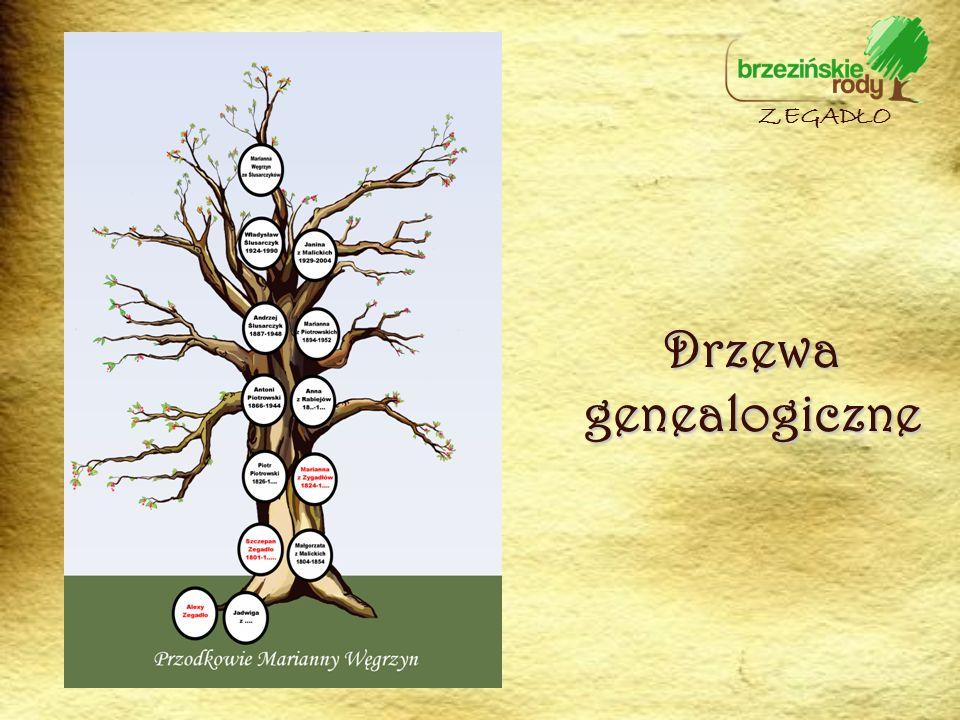 Drzewa genealogiczne ZEGADŁO