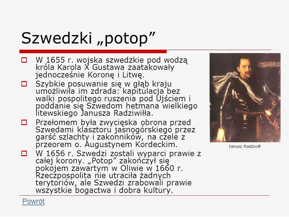 Rokosz Lubomirskiego Jerzy Sebastian Lubomirski był przeciwnikiem reform ustrojowych i ogłoszenia elekcji vivente rege.