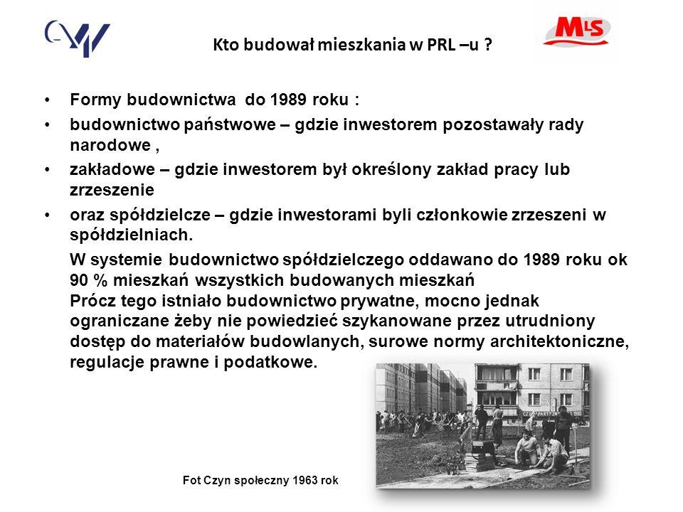 Kto budował mieszkania w PRL –u .