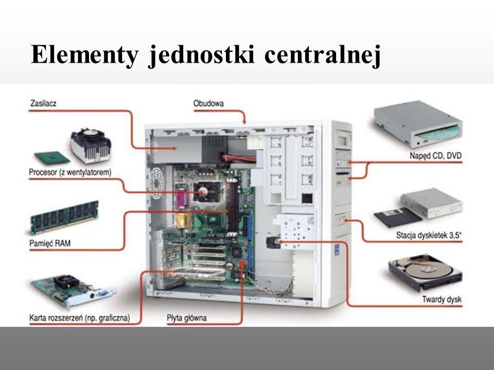 Elementy jednostki centralnej