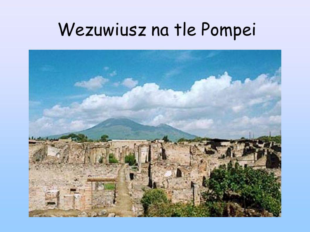 Wezuwiusz na tle Pompei