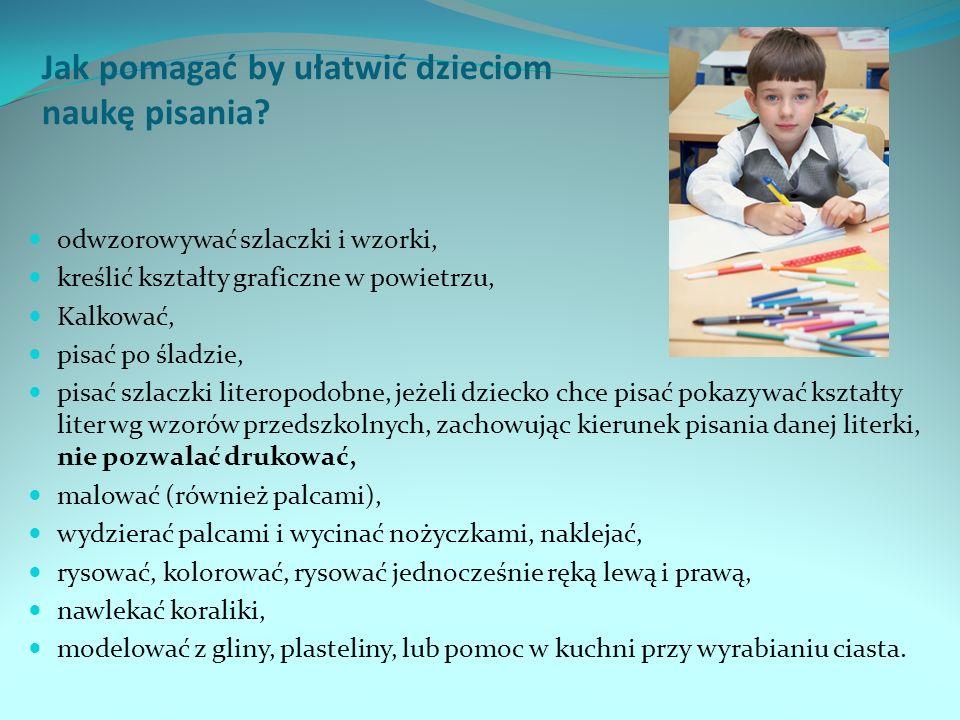 Jak pomagać by ułatwić dzieciom naukę pisania.