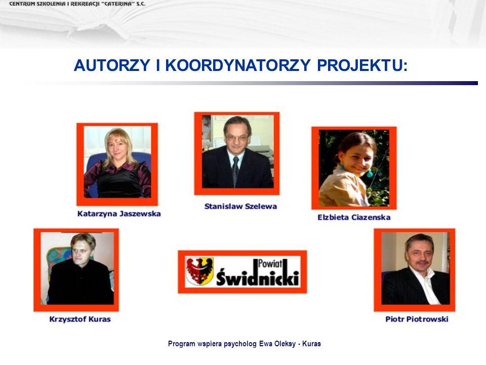 AUTORZY I KOORDYNATORZY PROJEKTU: Program wspiera psycholog Ewa Oleksy - Kuras