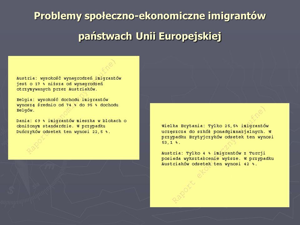 Problemy społeczno-ekonomiczne imigrantów państwach Unii Europejskiej