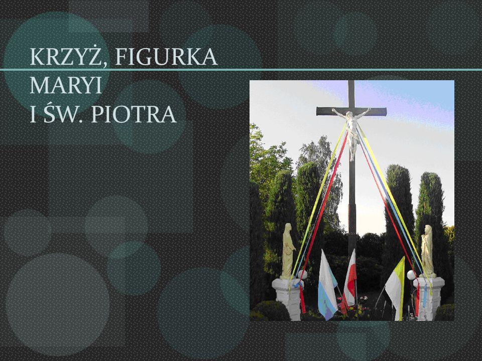 KRZYŻ, FIGURKA MARYI I ŚW. PIOTRA