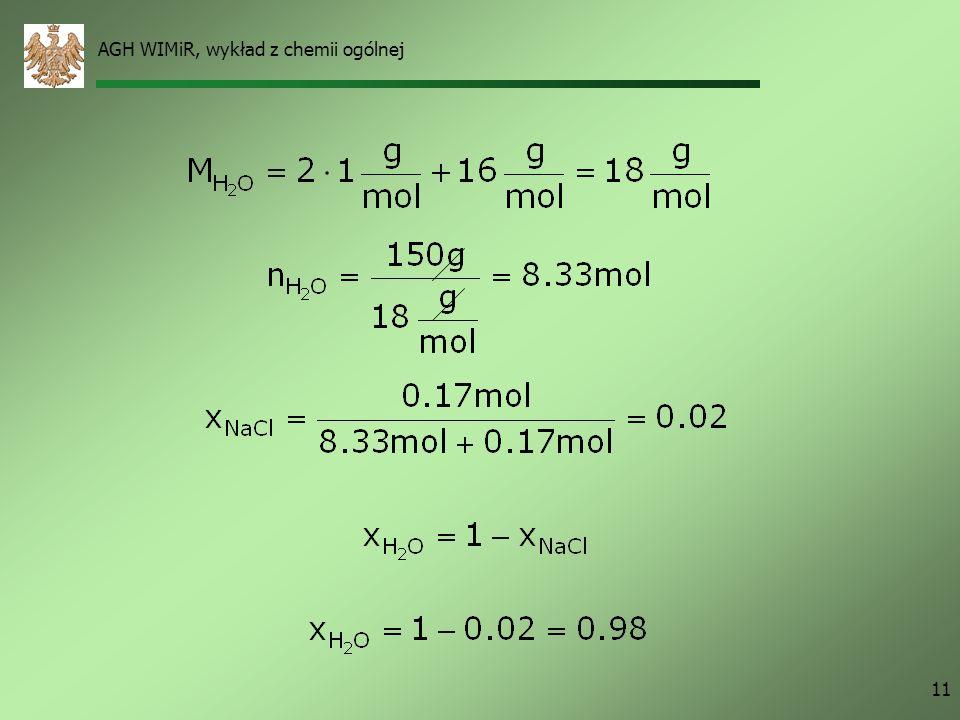 AGH WIMiR, wykład z chemii ogólnej 11