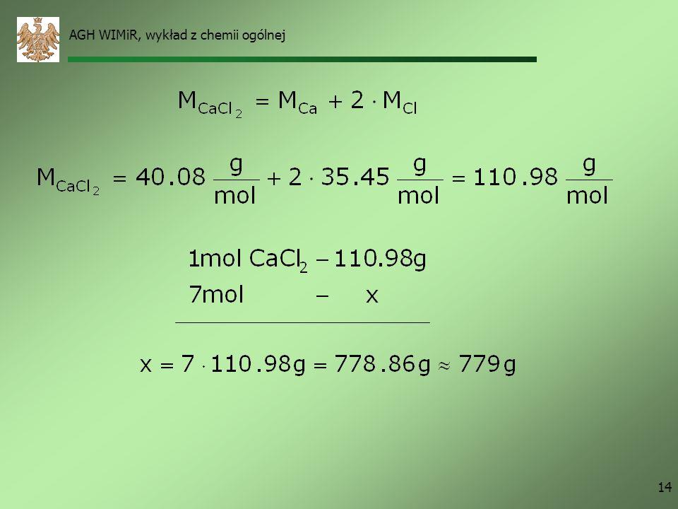 AGH WIMiR, wykład z chemii ogólnej 14