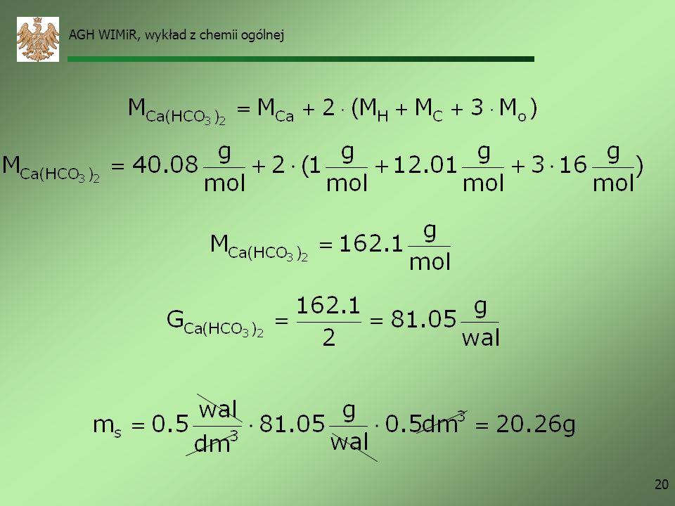 AGH WIMiR, wykład z chemii ogólnej 20