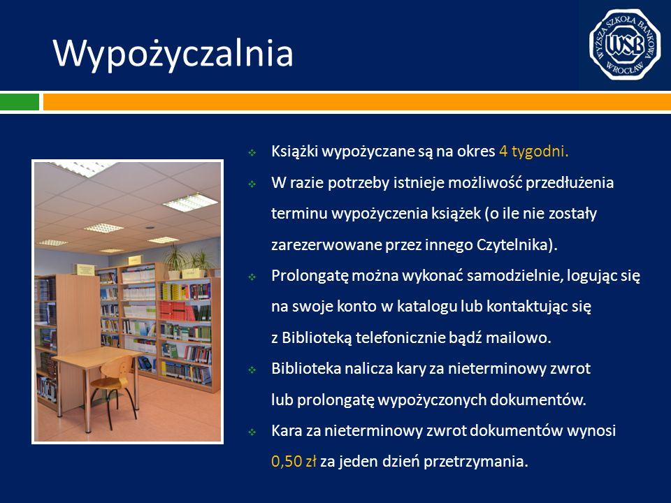 Katalog on-line (OPAC) Zamawianie Następnie pojawia się lista zamówień Czytelnika.