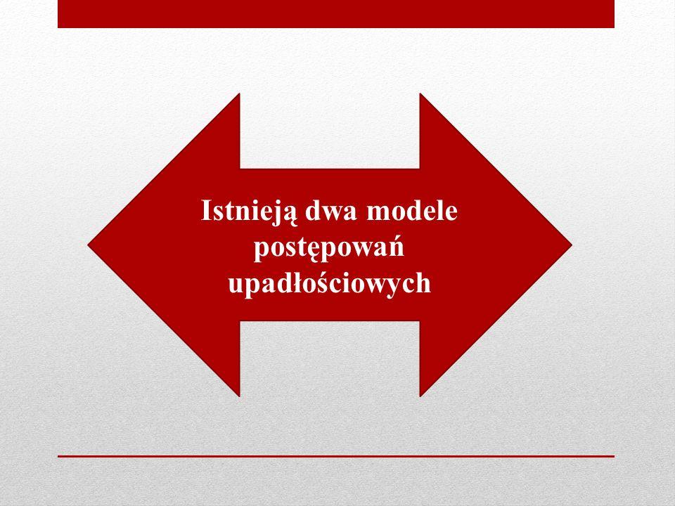Istnieją dwa modele postępowań upadłościowych