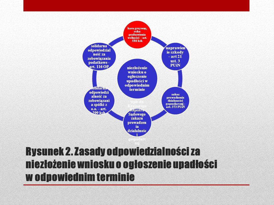 Rysunek 2. Zasady odpowiedzialności za niezłożenie wniosku o ogłoszenie upadłości w odpowiednim terminie niezłożenie wniosku o ogłoszenie upadłości w
