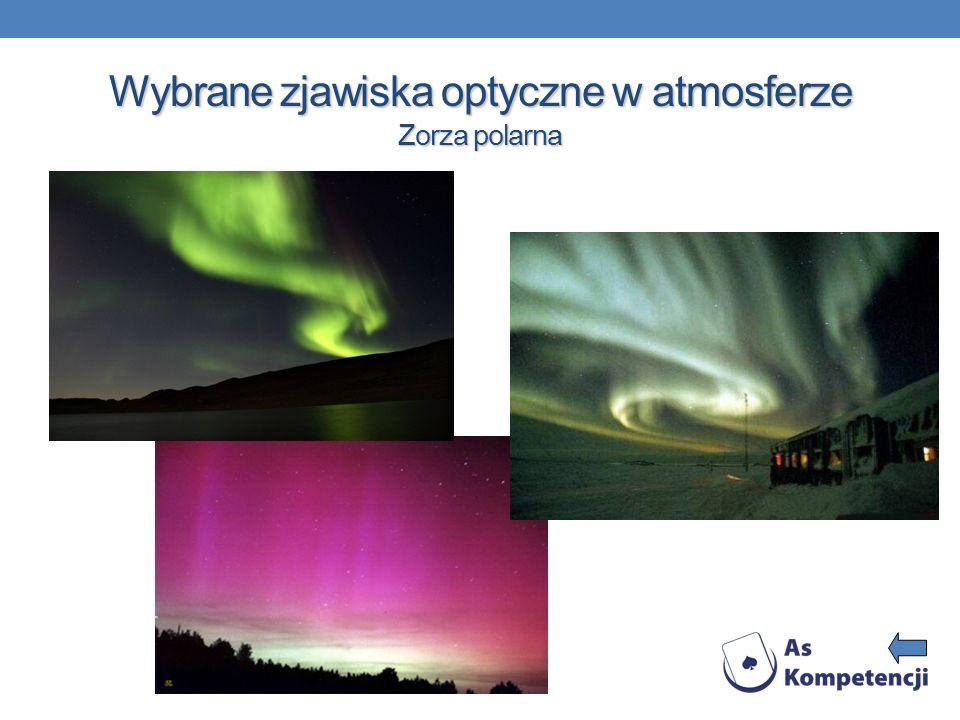 Wybrane zjawiska optyczne w atmosferze Zorza polarna