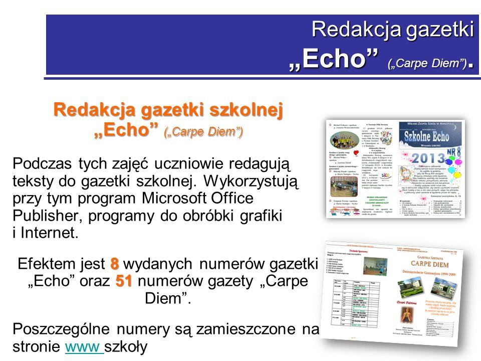 Redakcja gazetki Echo (Carpe Diem).