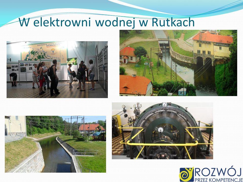 W elektrowni wodnej w Rutkach