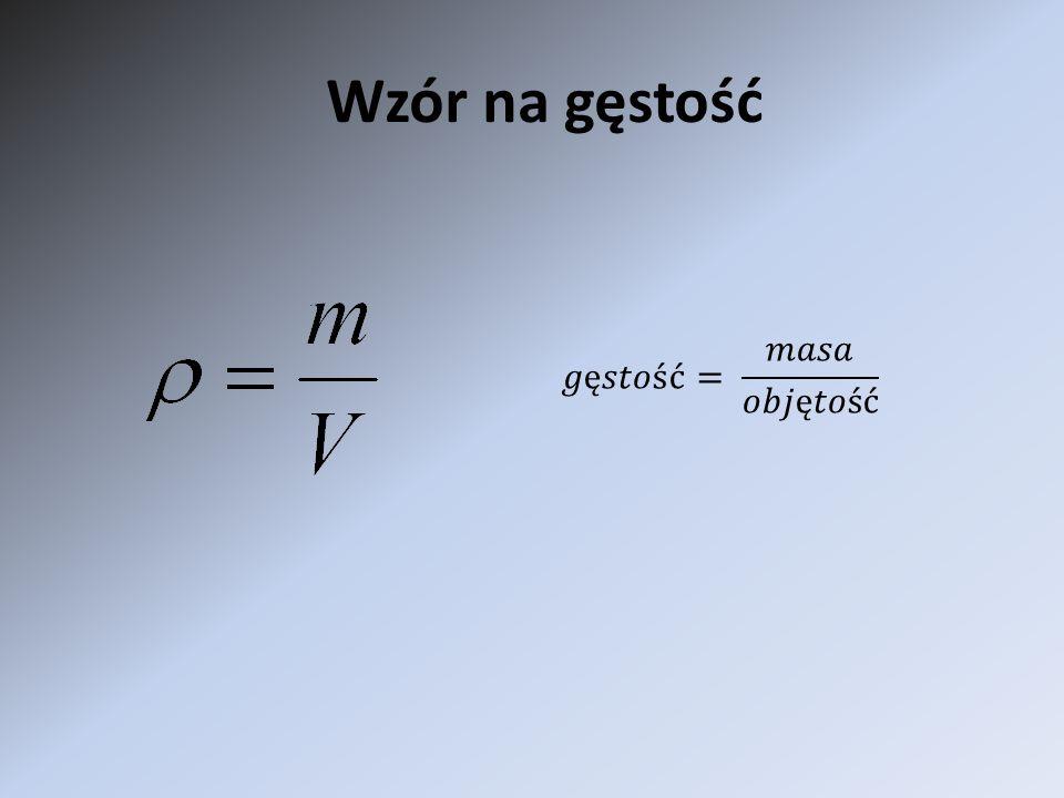 Wzór na gęstość