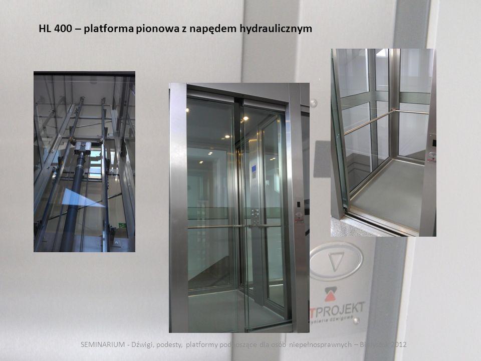 HL 400 – platforma pionowa z napędem hydraulicznym
