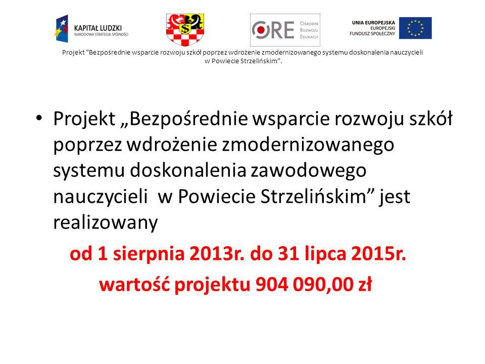Projekt Bezpośrednie wsparcie rozwoju szkół poprzez wdrożenie zmodernizowanego systemu doskonalenia nauczycieli w Powiecie Strzelińskim. Projekt Bezpo