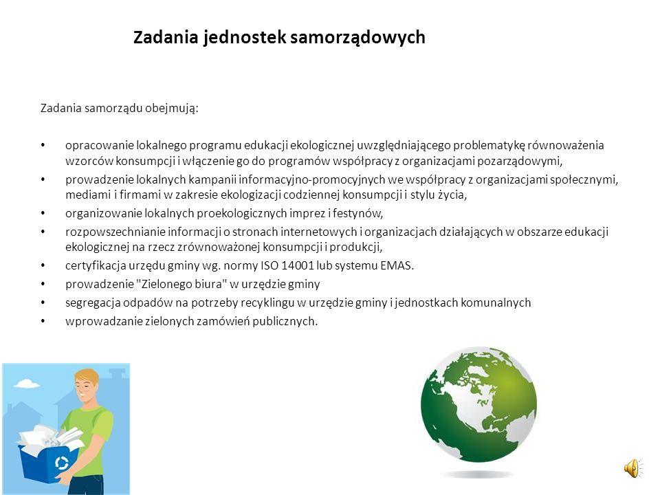 Efektywność edukacji ekologicznej - założenia Zwiększenie efektywności edukacji ekologicznej i jej skuteczności w obszarze równoważenia wzorców konsum