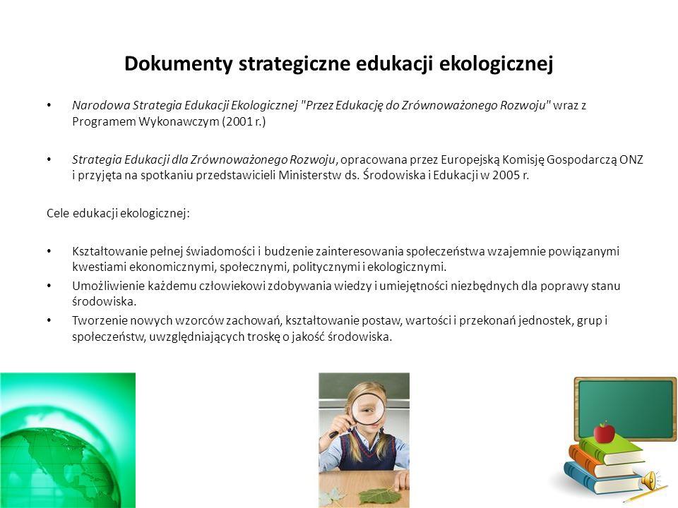 Edukacja formalna Edukacja nieformalna Przedszkola Szkoły podstawowe i gimnazja Szkoły średnie i wyższe Pozarządowe organizacje ekologiczne Telewizje