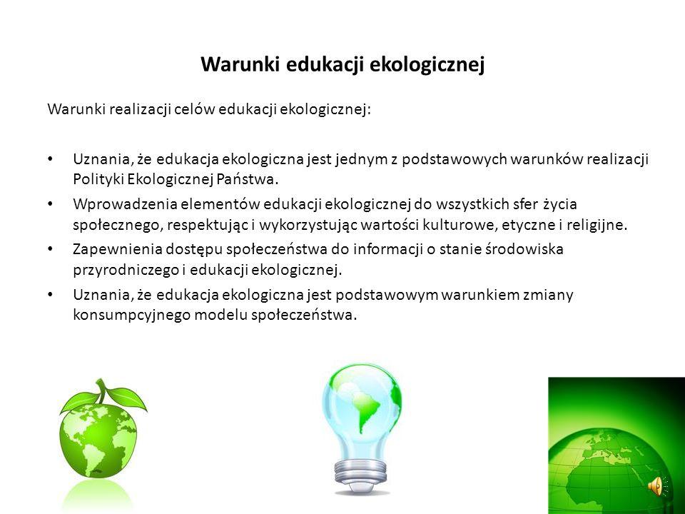 Dokumenty strategiczne edukacji ekologicznej Narodowa Strategia Edukacji Ekologicznej