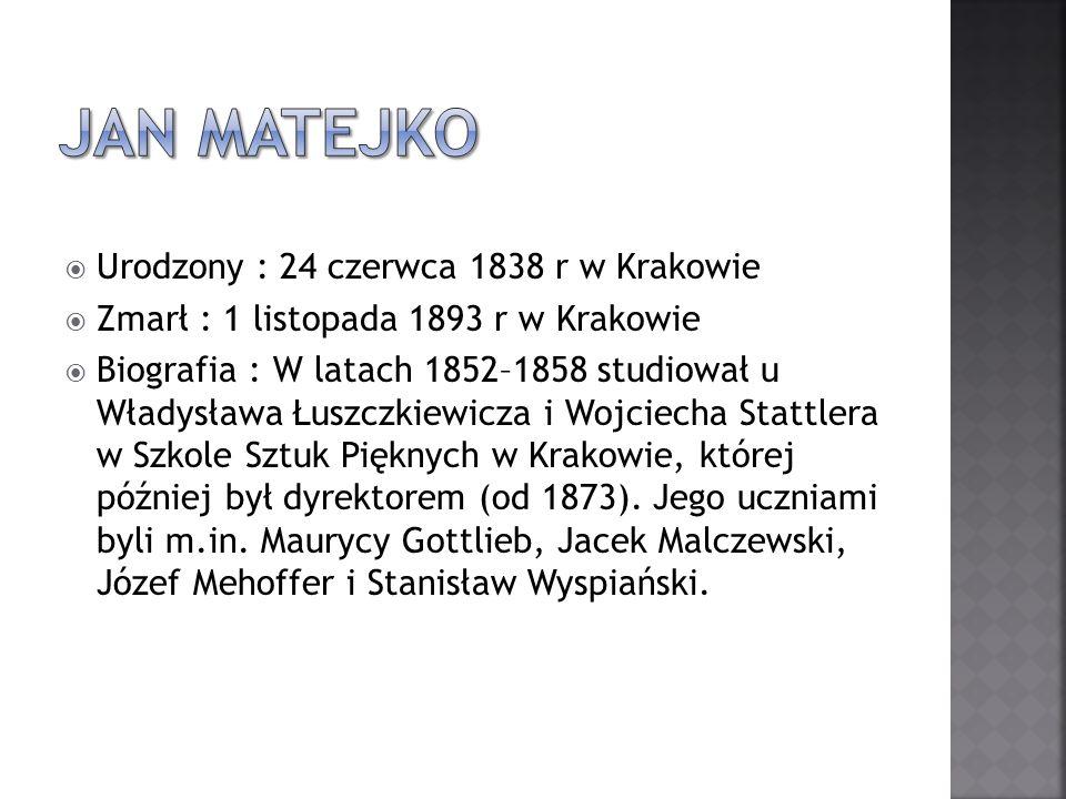 Urodzony : 24 czerwca 1838 r w Krakowie Zmarł : 1 listopada 1893 r w Krakowie Biografia : W latach 1852–1858 studiował u Władysława Łuszczkiewicza i W