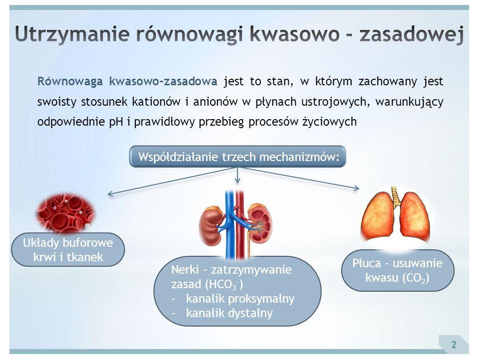 pH pCO 2 Aktualne stężenie HCO 3 - BE pO 2 HbO 2 (SO 2 ) Parametry mierzone 3 Parametr – krew tętnicza:Zakres wartości referencyjnych: pH7.35 – 7.45 pCO 2 (mmHg)35 – 45 NZ (mmol/l)0 +/- 2.5 HCO 3 - (mmol/l)21 – 26 pO 2 (mmHg)71 – 104 HbO 2 sat.