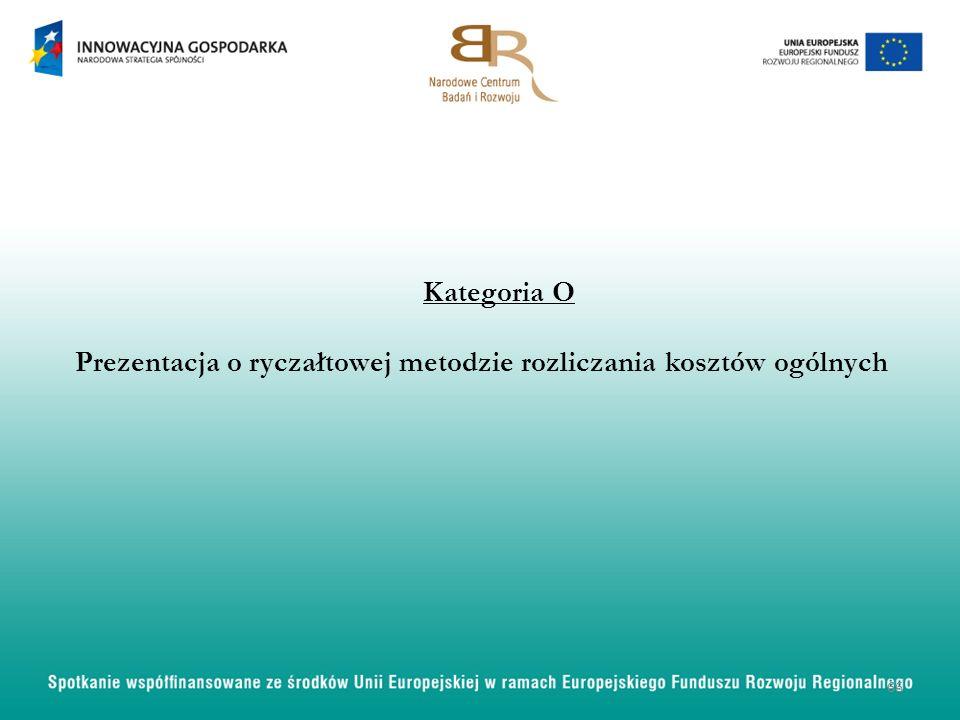Kategoria O Prezentacja o ryczałtowej metodzie rozliczania kosztów ogólnych 66