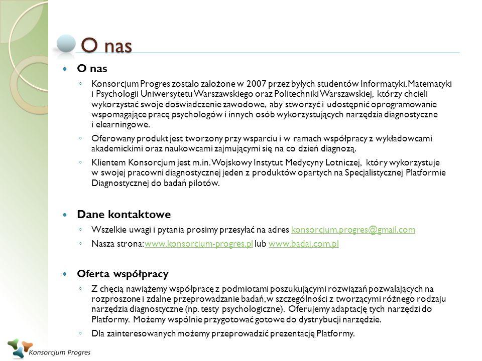 O nas Konsorcjum Progres zostało założone w 2007 przez byłych studentów Informatyki, Matematyki i Psychologii Uniwersytetu Warszawskiego oraz Politech