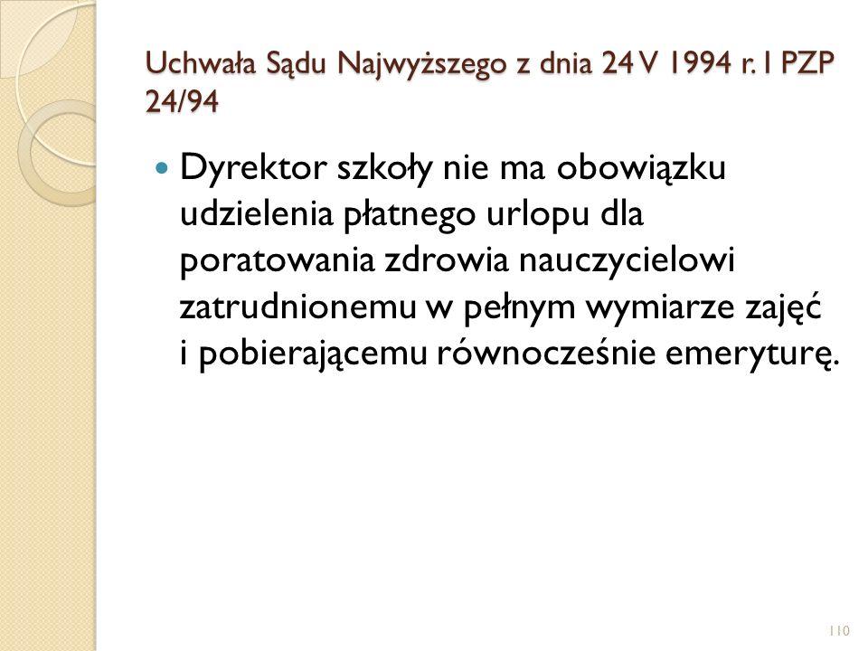 Uchwała Sądu Najwyższego z dnia 24 V 1994 r.