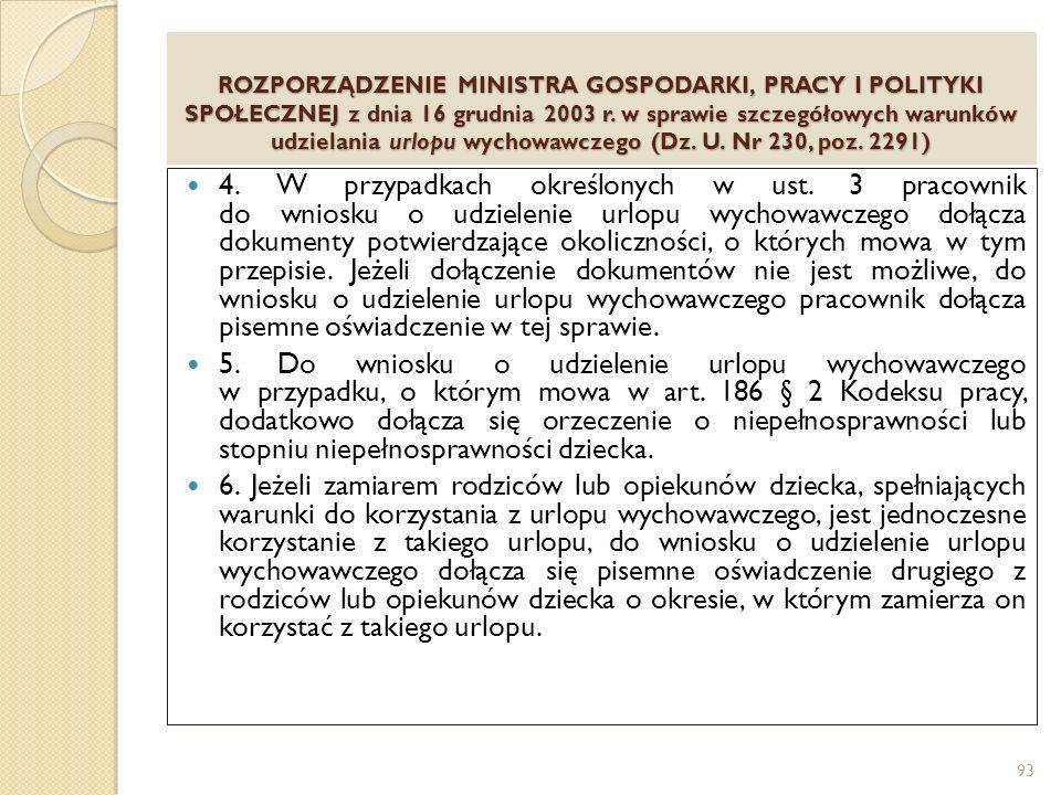 ROZPORZĄDZENIE MINISTRA GOSPODARKI, PRACY I POLITYKI SPOŁECZNEJ z dnia 16 grudnia 2003 r.