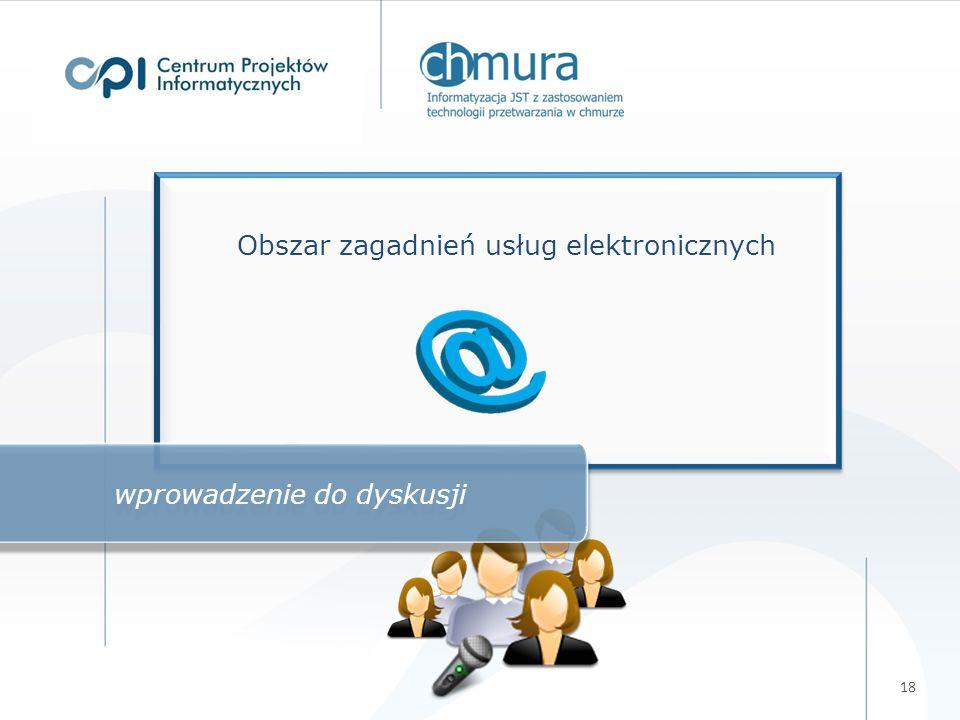 18 Obszar zagadnień usług elektronicznych wprowadzenie do dyskusji