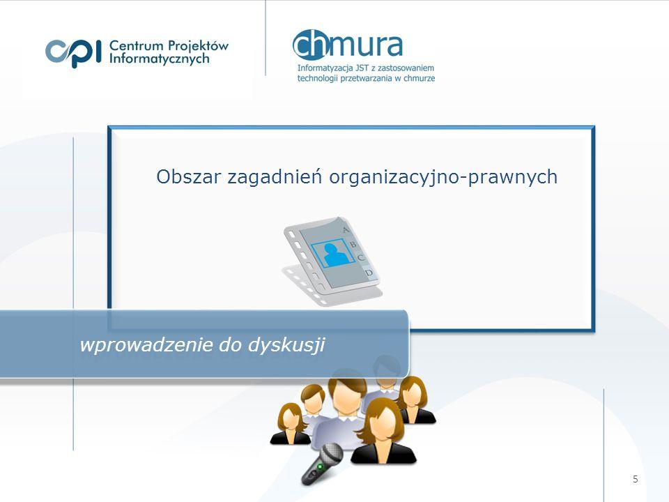 5 Obszar zagadnień organizacyjno-prawnych wprowadzenie do dyskusji