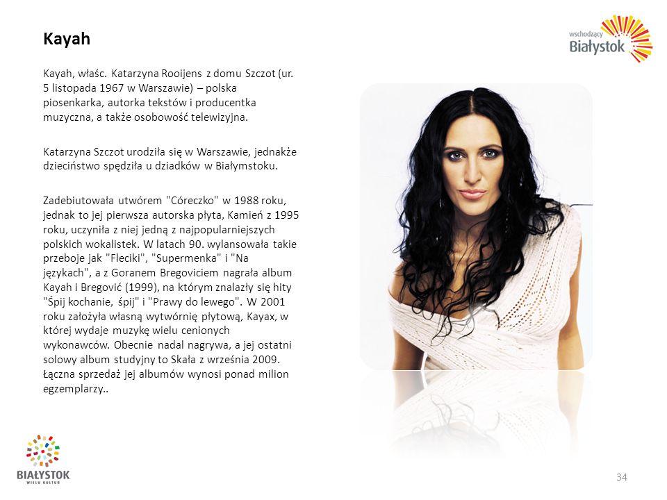 Kayah Kayah, właśc. Katarzyna Rooijens z domu Szczot (ur. 5 listopada 1967 w Warszawie) – polska piosenkarka, autorka tekstów i producentka muzyczna,
