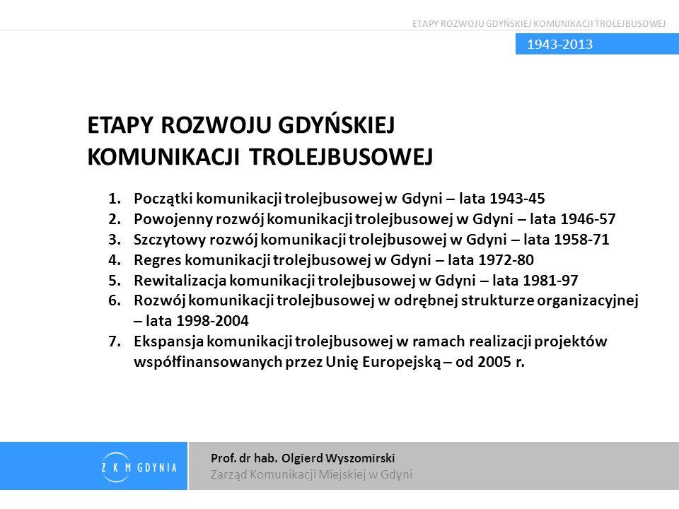 Prof. dr hab. Olgierd Wyszomirski Zarząd Komunikacji Miejskiej w Gdyni Dziękuję za uwagę