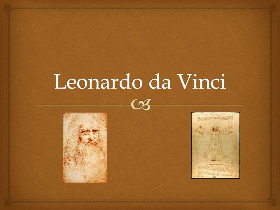 Leonardo da Vinci Leonardo da Vinci, ur.