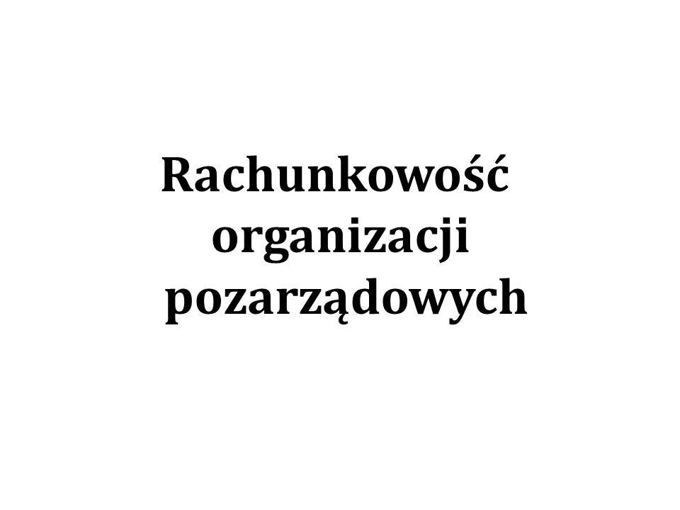 Rachunkowość organizacji pozarządowych