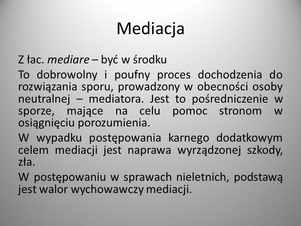 Mediacja Z łac.