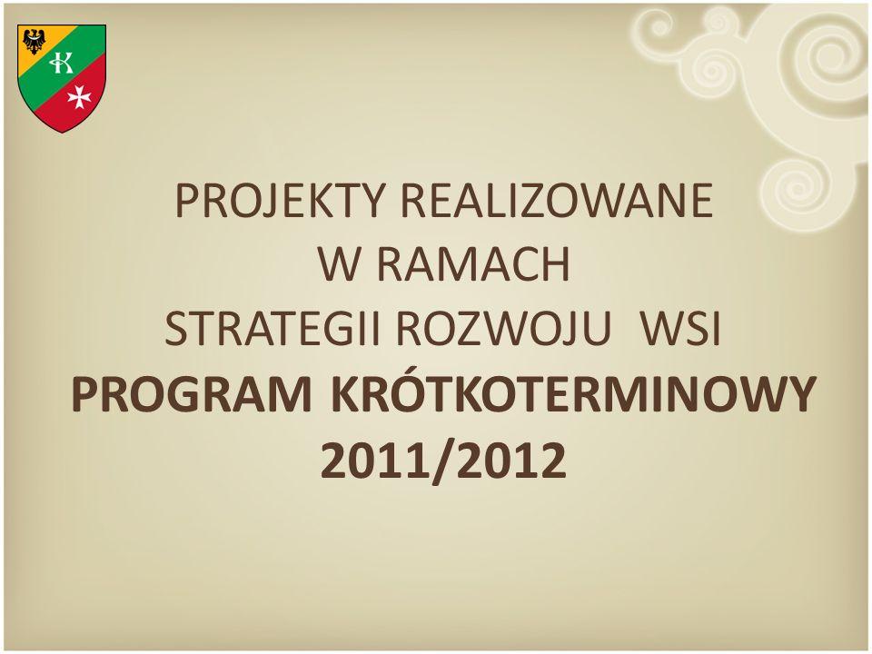 PROJEKTY REALIZOWANE W RAMACH STRATEGII ROZWOJU WSI PROGRAM KRÓTKOTERMINOWY 2011/2012