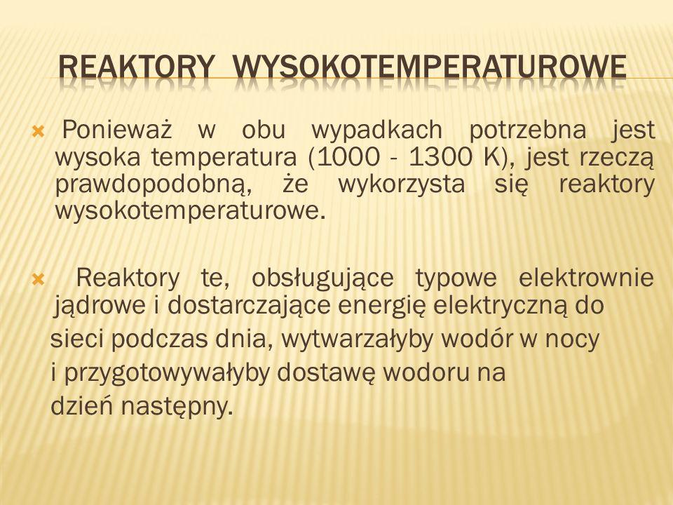 Ponieważ w obu wypadkach potrzebna jest wysoka temperatura (1000 - 1300 K), jest rzeczą prawdopodobną, że wykorzysta się reaktory wysokotemperaturowe.