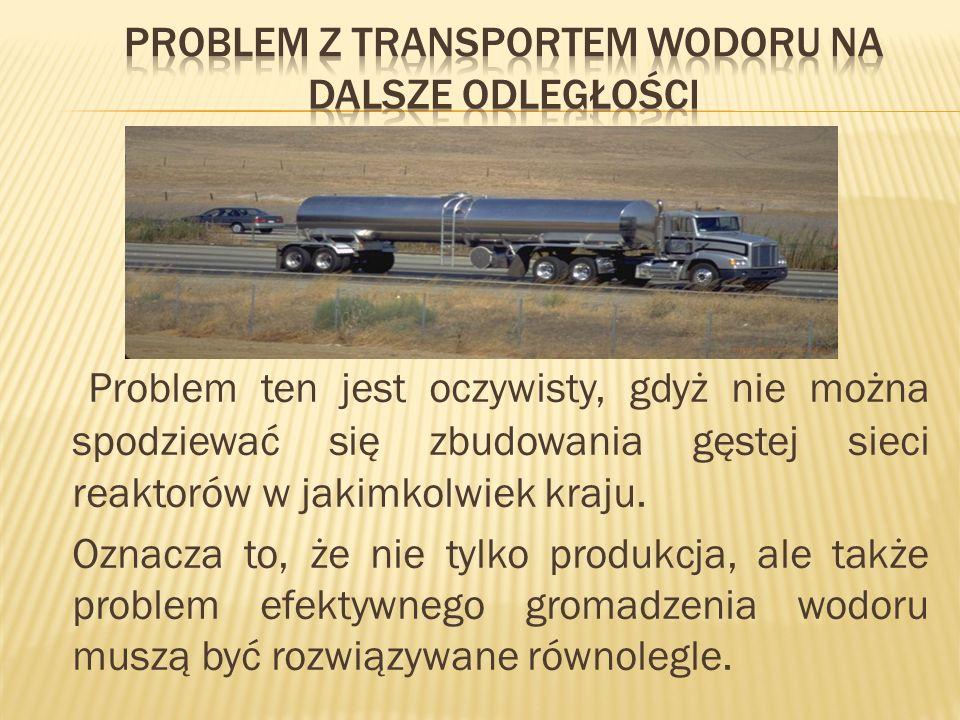 Problem ten jest oczywisty, gdyż nie można spodziewać się zbudowania gęstej sieci reaktorów w jakimkolwiek kraju. Oznacza to, że nie tylko produkcja,