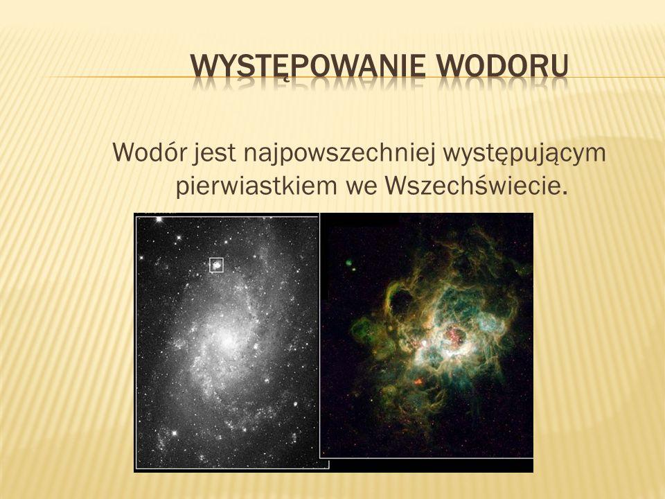 Wodór jest najpowszechniej występującym pierwiastkiem we Wszechświecie.